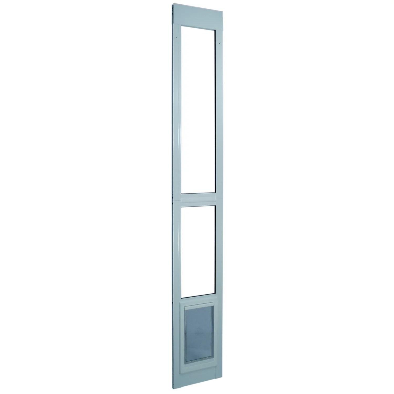 ideal sliding glass patio dog door white x large 79 l x 1 88 w x 15 38 h walmart com