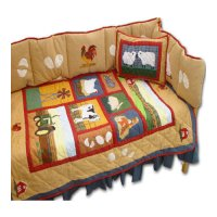 Patch Magic Barnyard 9 Piece Crib Bedding Set - Walmart.com
