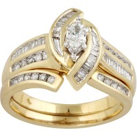 1/2 Carat Diamond Engagement Ring in 10kt Yellow Gold ...