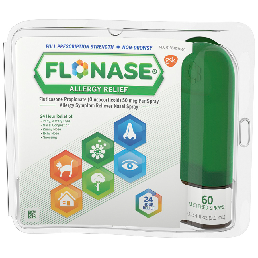 Flonase Allergy Relief Nasal Spray 0.34 oz 60 Metered ...
