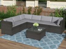 wicker patio sets 7 piece
