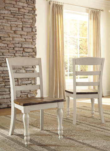 ashley dining room chairs childrens desk and chair set uk marsilona two tone of 2 walmart com
