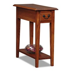 Chair Side Tables With Storage Video Games Modhaus Living Country Style Narrow Nightstand Rectangle Wooden Medium Oak Table Drawer Includes Pen Walmart Com