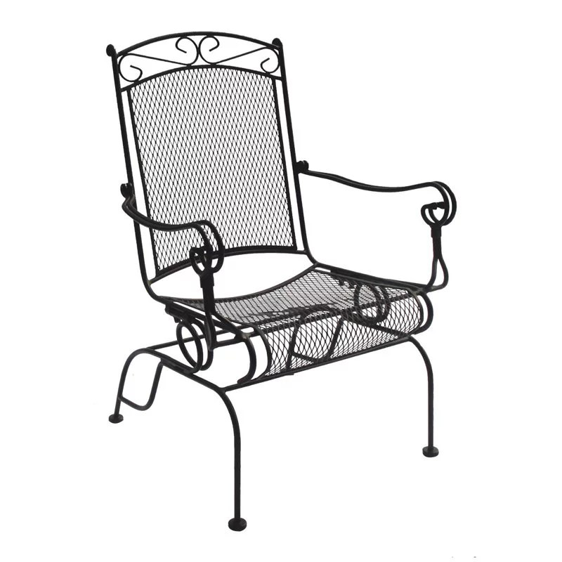 wrought iron rocking chair dining room leg covers charleston high back spring rocker set of 2 walmart com