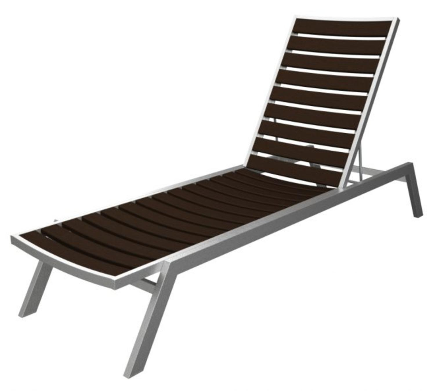 Recycled European Outdoor Chaise Lounge Chair