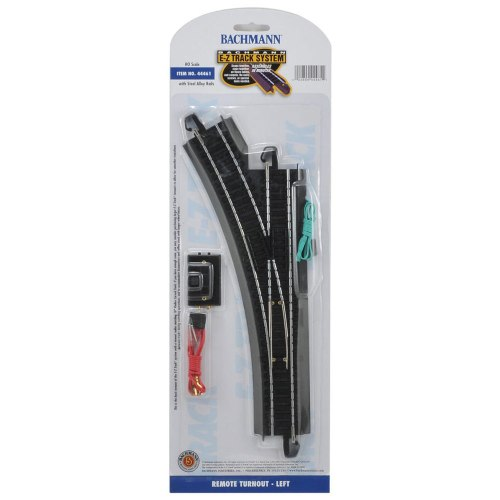 small resolution of bachmann trains ho scale basic left turnout snap fit ez track model train system walmart com