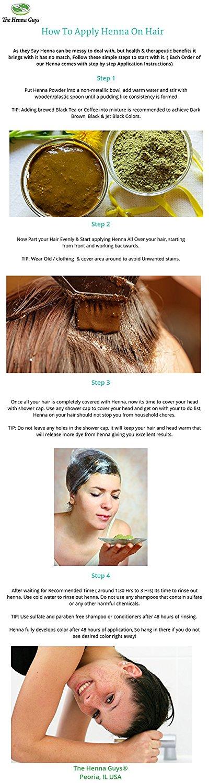 dark brown henna hair