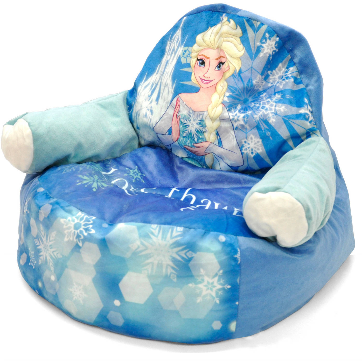 bean bag chair for toddler revolving steel base with wheels frozen elsa character figural walmart com