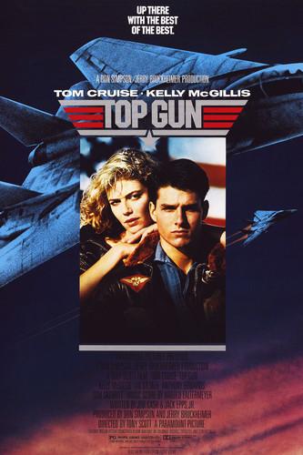 tom cruise and kelly mcgillis in top gun movie art 24x36 poster
