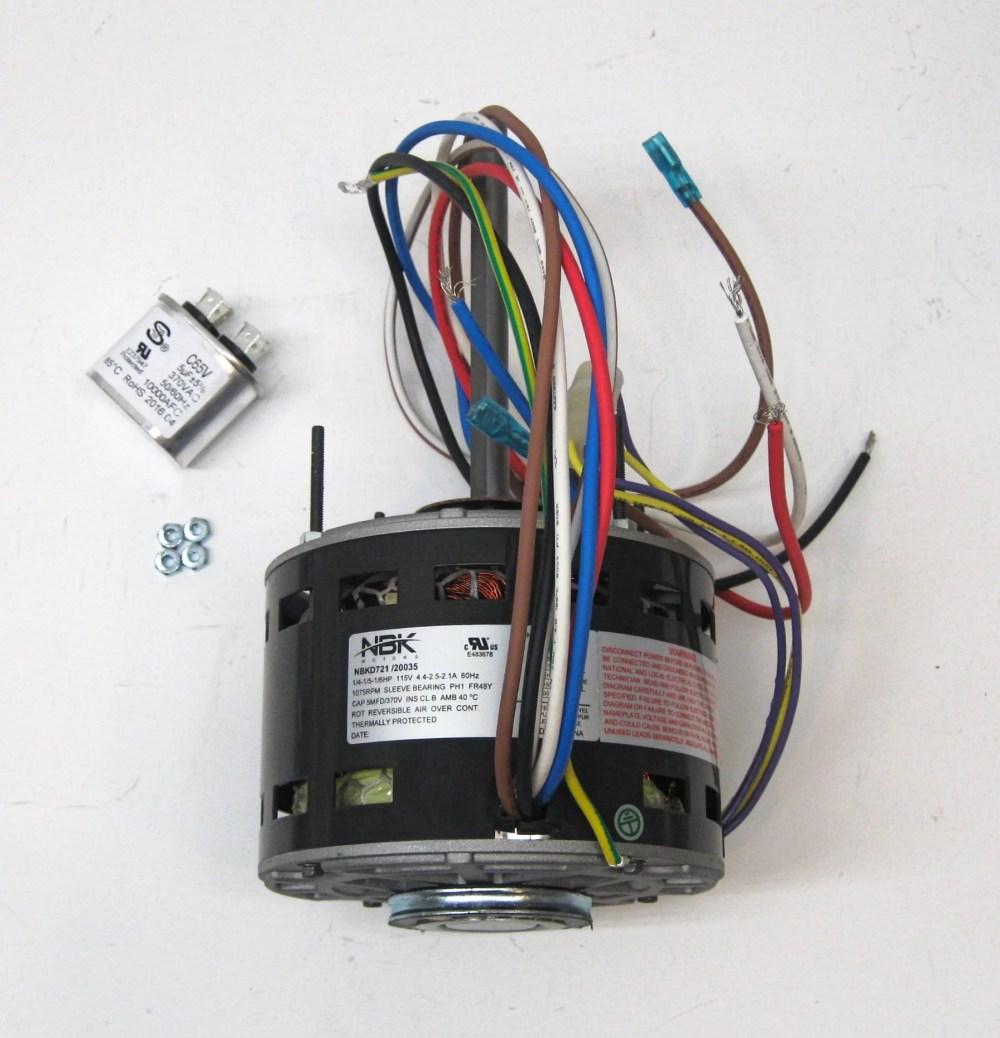 medium resolution of furnace air handler hvac direct drive blower motor 1 4 hp 1075 rpm 115 volts 3 speed capacitor included walmart com