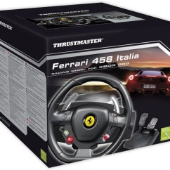 Steering Wheel Pc Orbit Sprinkler Parts Diagram Thrustmaster Ferrari 458 Italia Edition Racing For Walmart Com