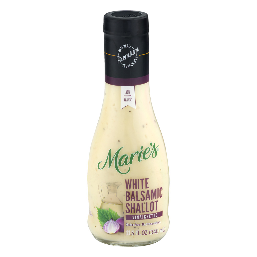 Maries White Balsamic Shallot Vinaigrette 115 FL OZ