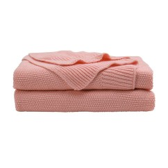 Pink Sofa Throw Caster Legs 100 Cotton Soft Warm Knit Blanket For Bed Home