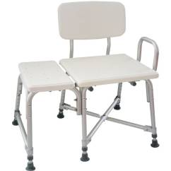 Drive Medical Bathroom Safety Shower Tub Bench Chair With Back Gray Oversized Chairs For Sale Medline Transfer - Walmart.com