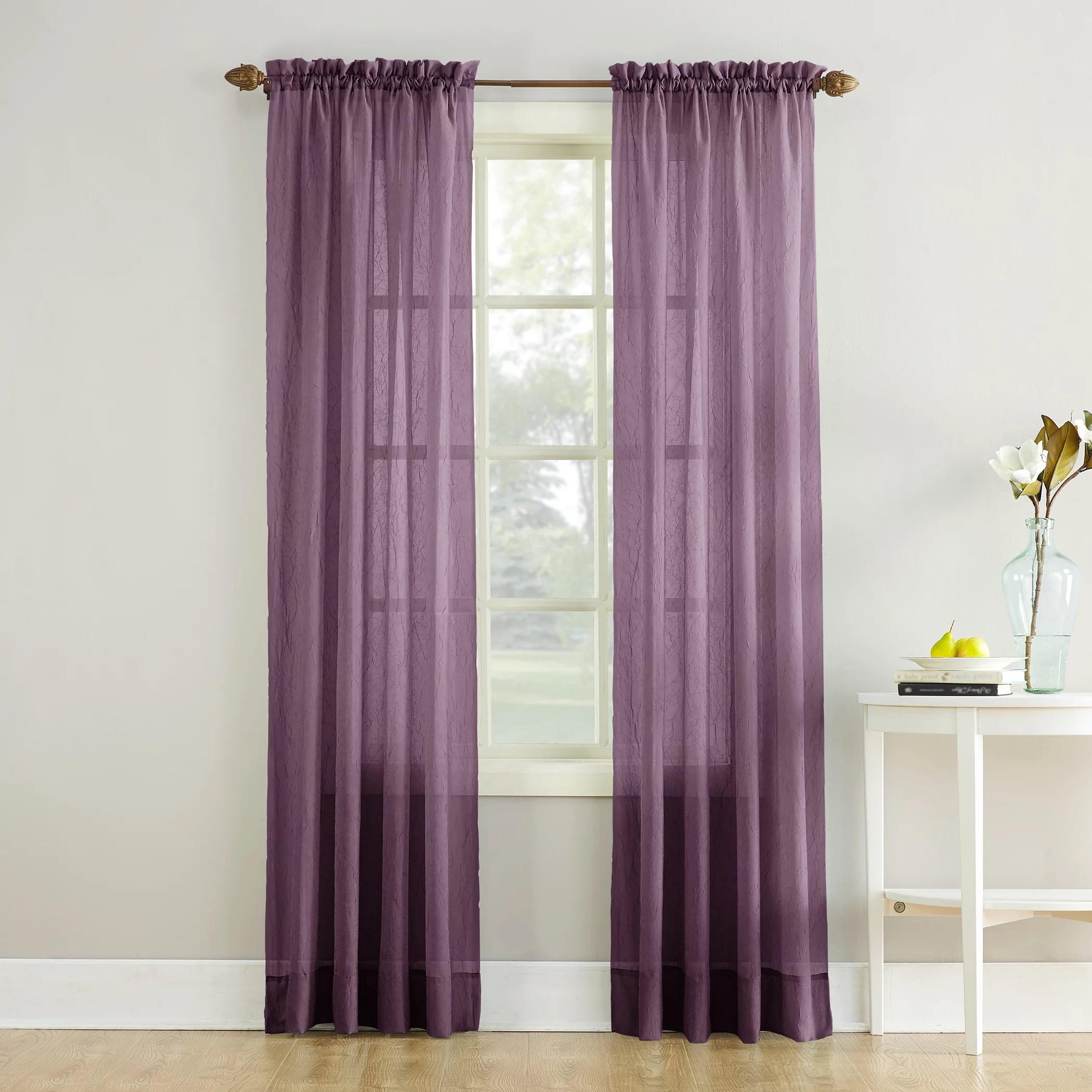 no 918 jillian crushed voile sheer rod pocket curtain panel