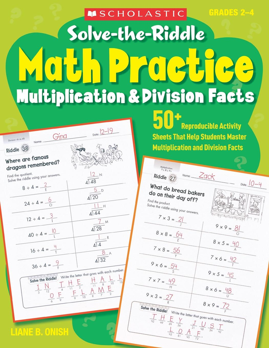 Solve The Riddle Math Practice Grades 2 4 Multiplication