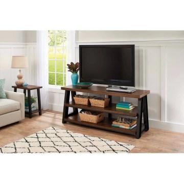 vizio tv base walmart. better homes and gardens mercer 3-in-1 brown tv stand for tvs up vizio base walmart e