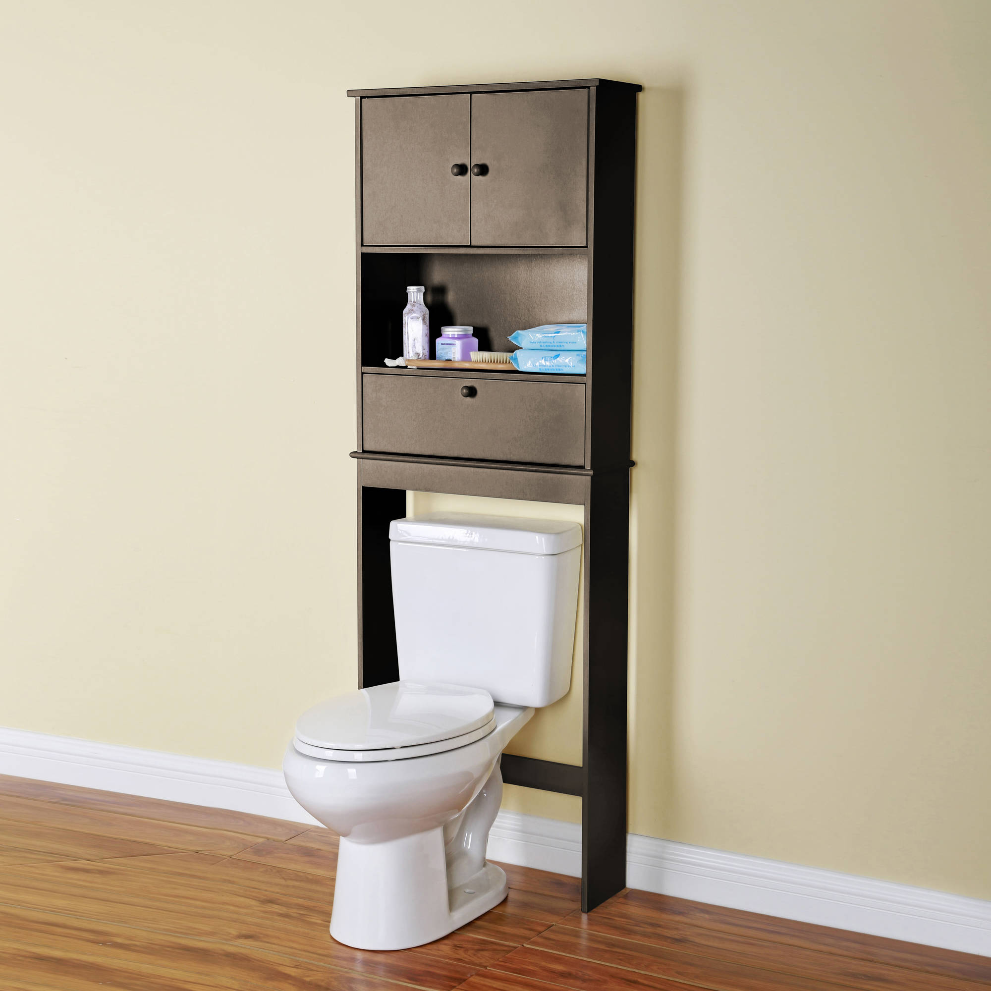 Over the Toilet Space Saver Shelf Espresso  Walmartcom