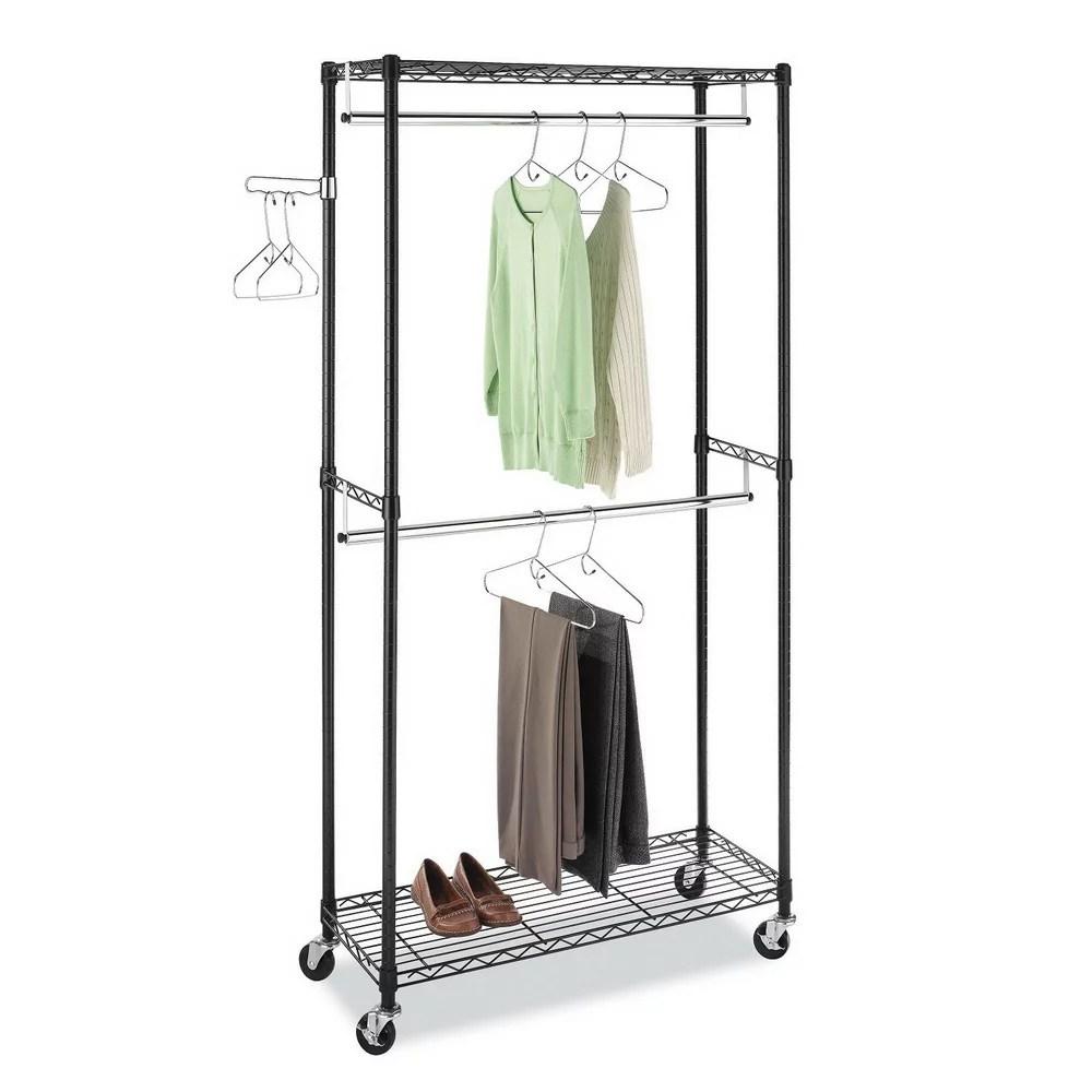 urhomepro heavy duty garment rack carbon steel black