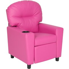 Kid Recliner Chair Musical Chairs Music Best Choice Products Kids Furniture With Cup Holder Pink Walmart Com