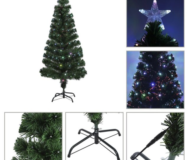 Holiday Festival Indoor Outdoor Colorful Led Color Changing Led Fiber Optic Lights Christmas Tree Decoration