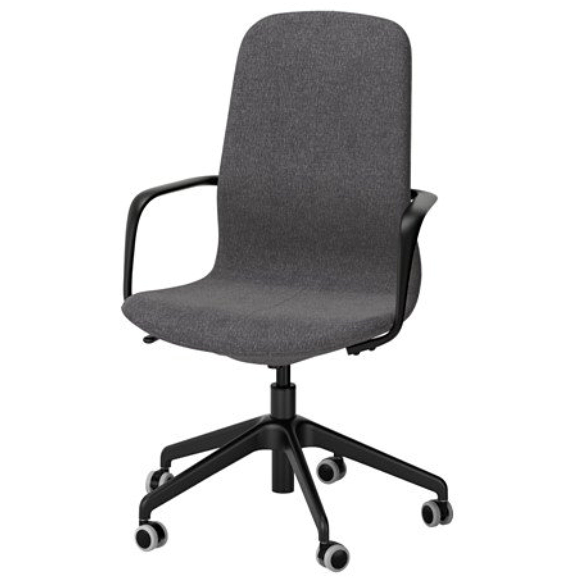 ikea swivel chair talpa unusual 41 with casters armrest gunnared dark gray seat black legs 18386 23262 168 walmart com