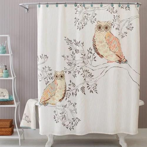 Better Homes And Gardens Owl Shower Curtain Walmart Com