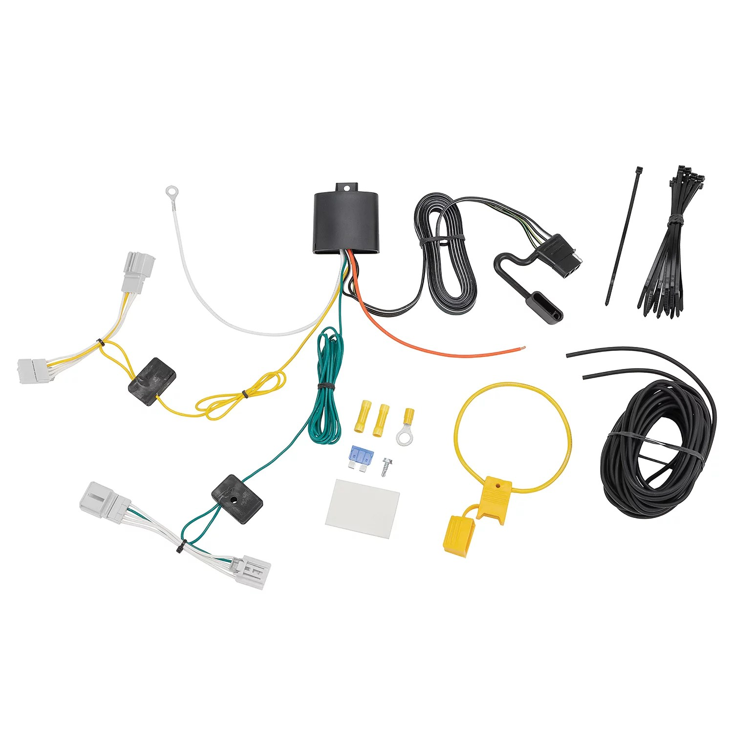 tekonsha 118775 trailer wiring connector t one t one connector upgraded modulite vehicle wiring harness with 4 pole trailer connector [ 1500 x 1500 Pixel ]