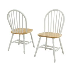 Windsor Kitchen Chairs Old Hickory For Sale White And Natural Dining Room Home