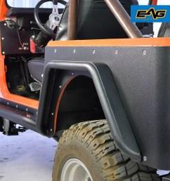 eag rear fender flares armor sets steel tube fits 76 86 jeep wrangler cj7 walmart com [ 1023 x 1023 Pixel ]