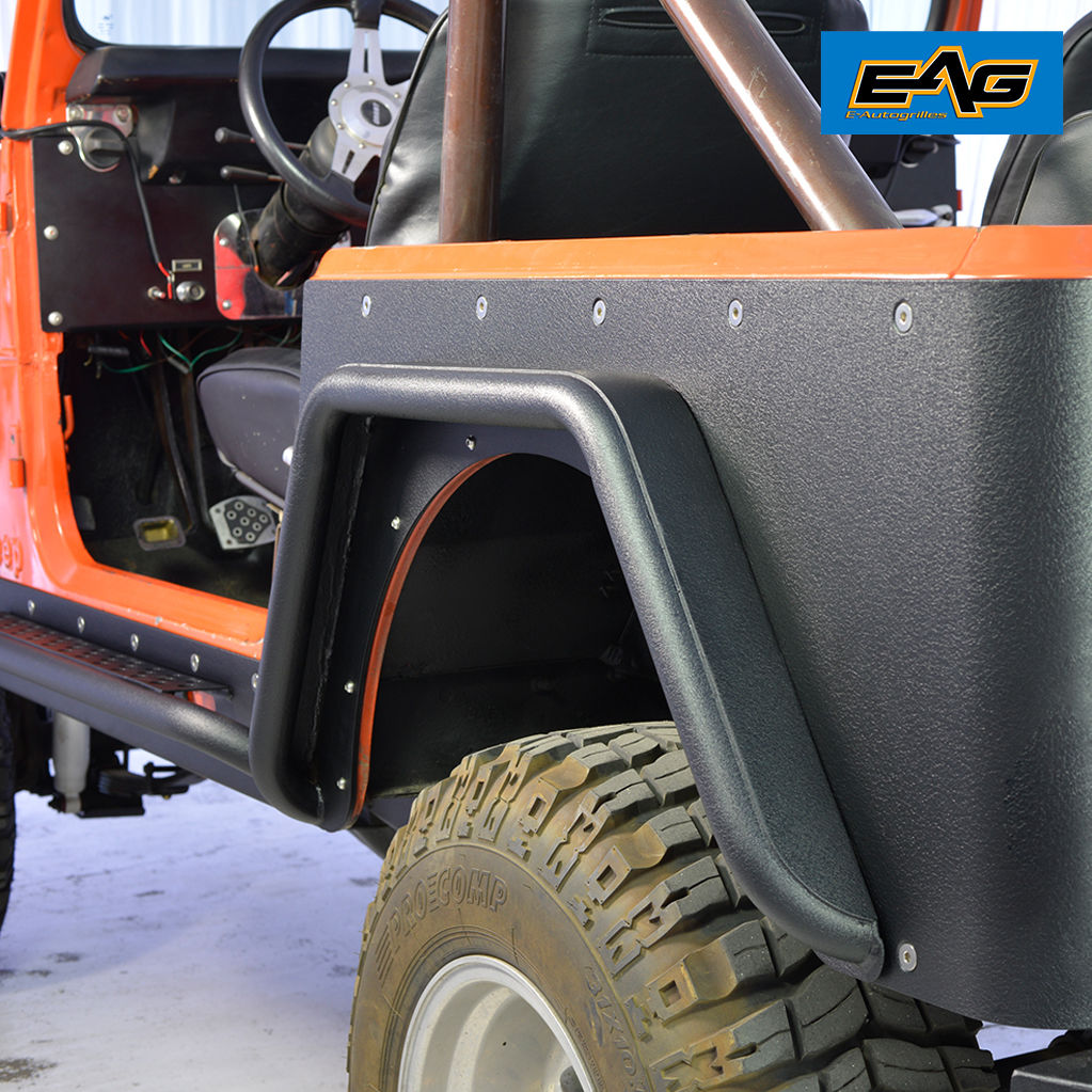 hight resolution of eag rear fender flares armor sets steel tube fits 76 86 jeep wrangler cj7 walmart com