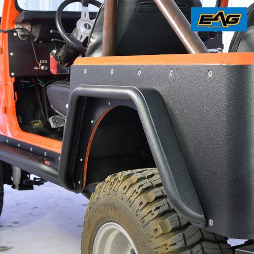 small resolution of eag rear fender flares armor sets steel tube fits 76 86 jeep wrangler cj7 walmart com