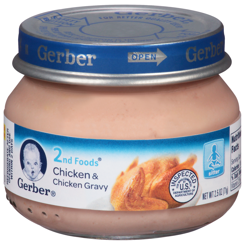 Gerber 2nd Foods Chicken Chicken Gravy Baby Food 25 oz