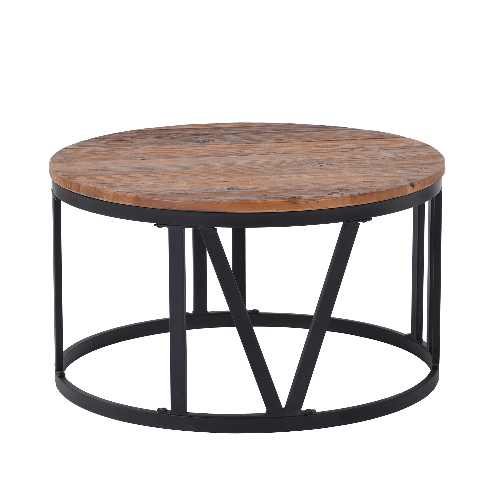 rustic coffee table old elm wood desktop with roman numerically shaped iron legs o31 5 walmart com