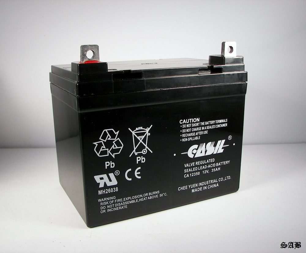 liberty 312 power chair battery white bankers with arms casil ca12350 12v 35ah for revolution mobility
