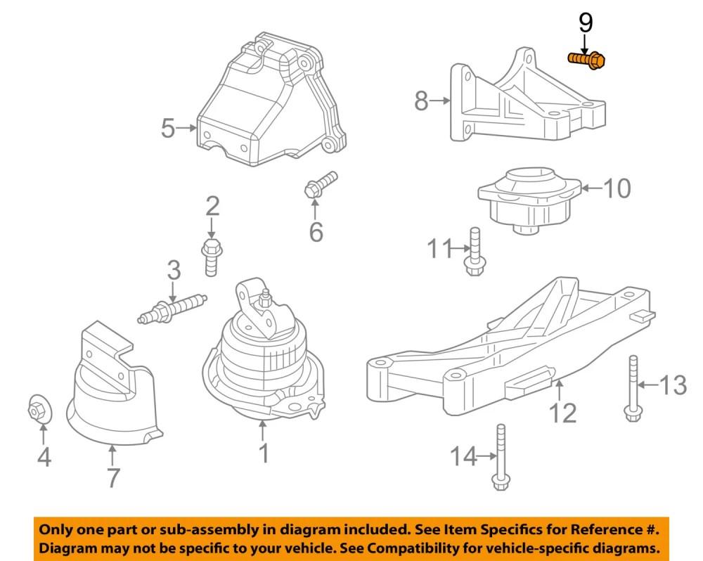 medium resolution of dodge chrysler oem engine motor transmission transmission support bolt 6102048aa walmart com