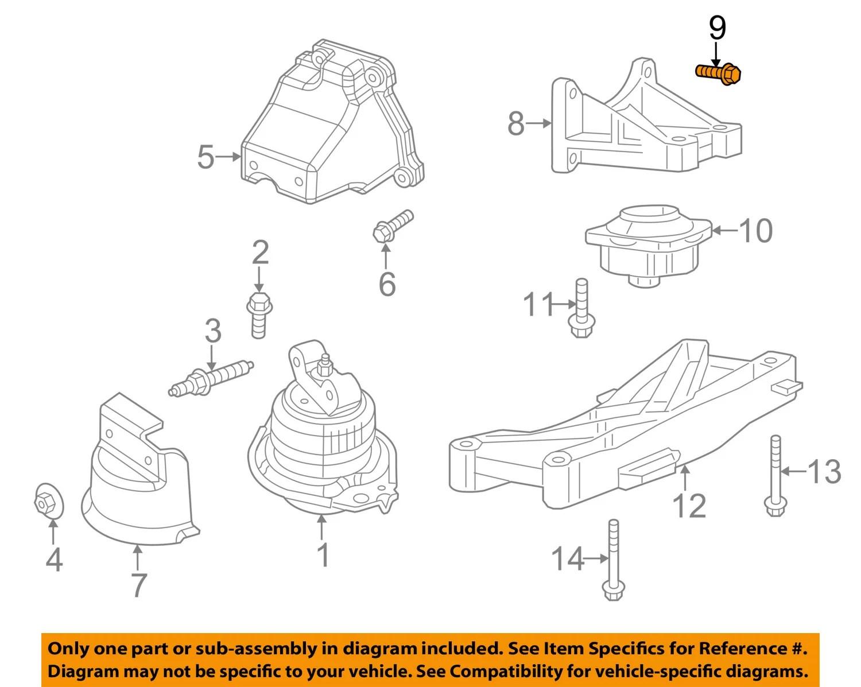 hight resolution of dodge chrysler oem engine motor transmission transmission support bolt 6102048aa walmart com