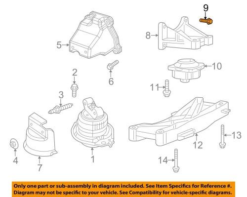 small resolution of dodge chrysler oem engine motor transmission transmission support bolt 6102048aa walmart com