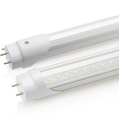 sunco lighting 8 pack 4ft 48 inch t8 tube led light bulbs 18 watt 40 equivalent clear 5000k kelvin daylight 2200lm bright white light single sided  [ 1000 x 1000 Pixel ]
