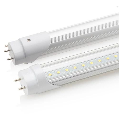 small resolution of sunco lighting 8 pack 4ft 48 inch t8 tube led light bulbs 18 watt 40 equivalent clear 5000k kelvin daylight 2200lm bright white light single sided