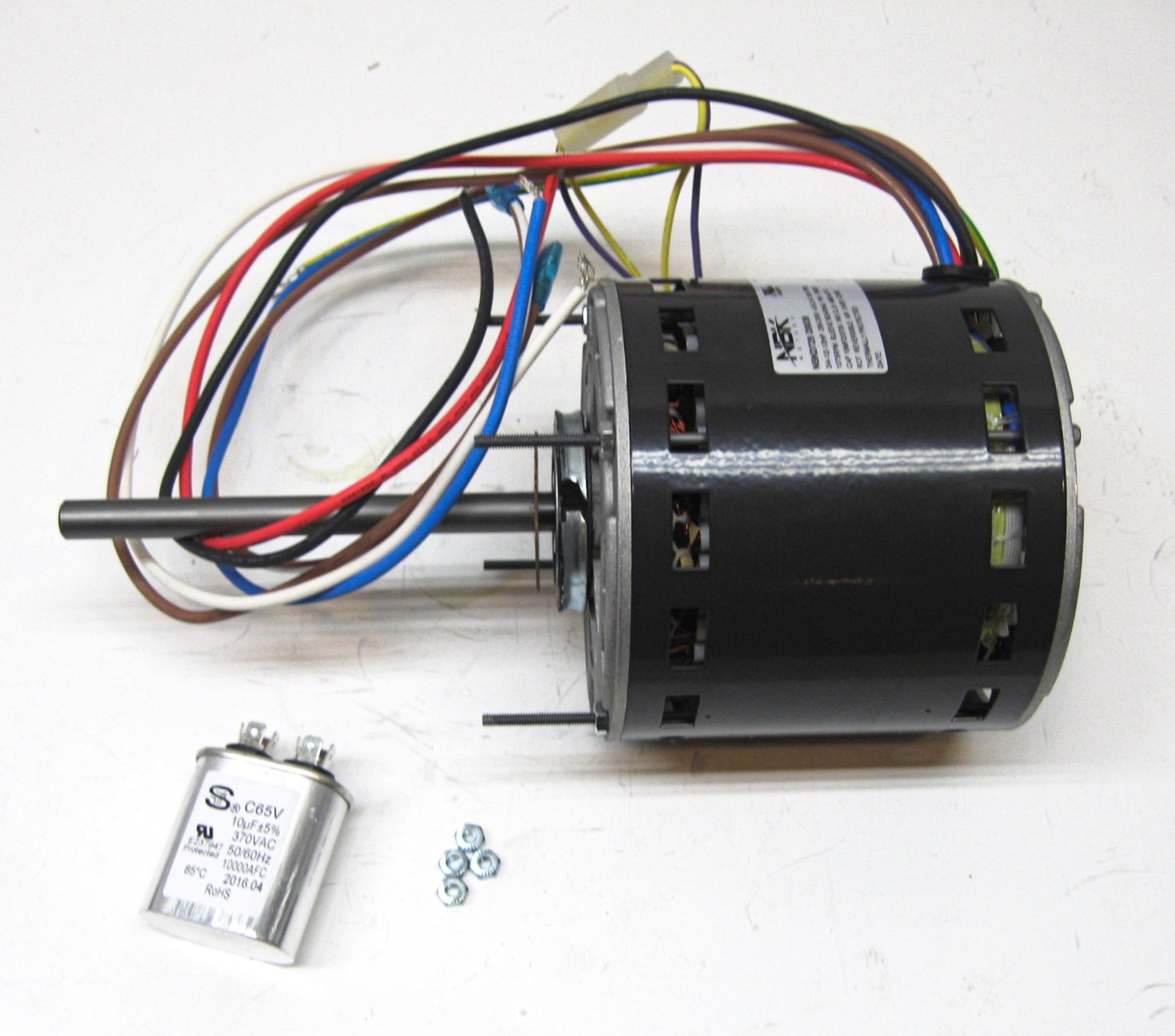 hight resolution of partsconnect hvac direct drive blower motor and capacitor pcd729 walmart com