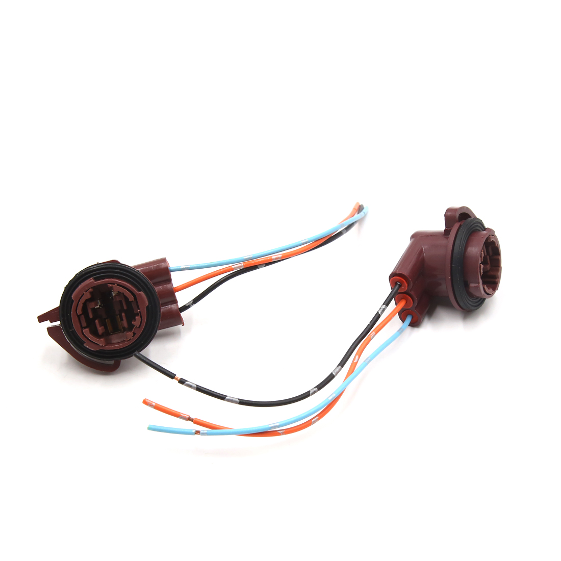 small resolution of 2pcs 3157 brake light bulb extension wiring harness socket connector for car walmart canada