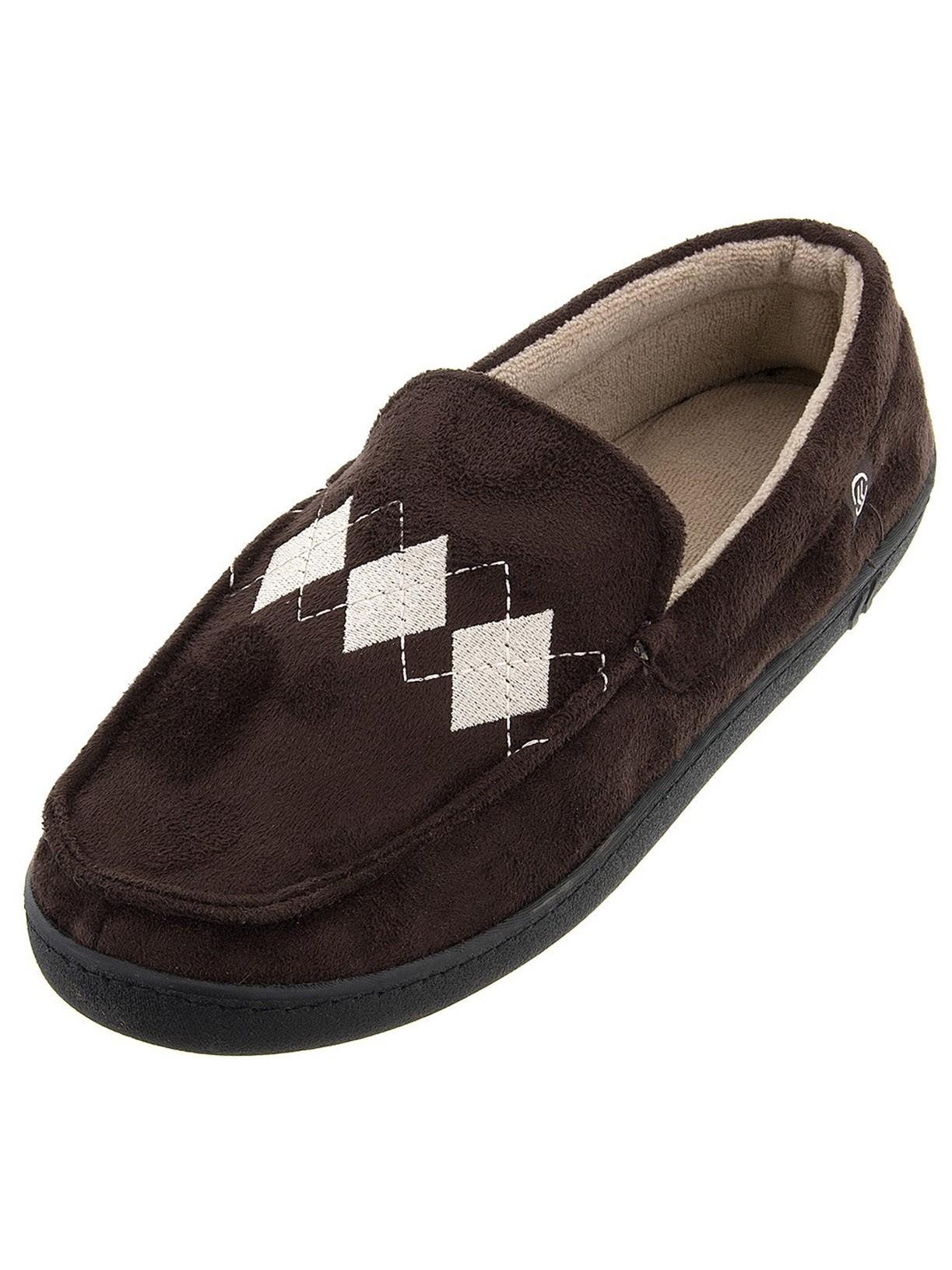 Isotoner signature also men   chocolate moccasin slipper rh walmart