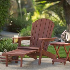 Big Daddy Adirondack Chair Faux Leather Cushions Coral Coast With Pull Out Ottoman And Cup Holder Barn Red Stained Walmart Com