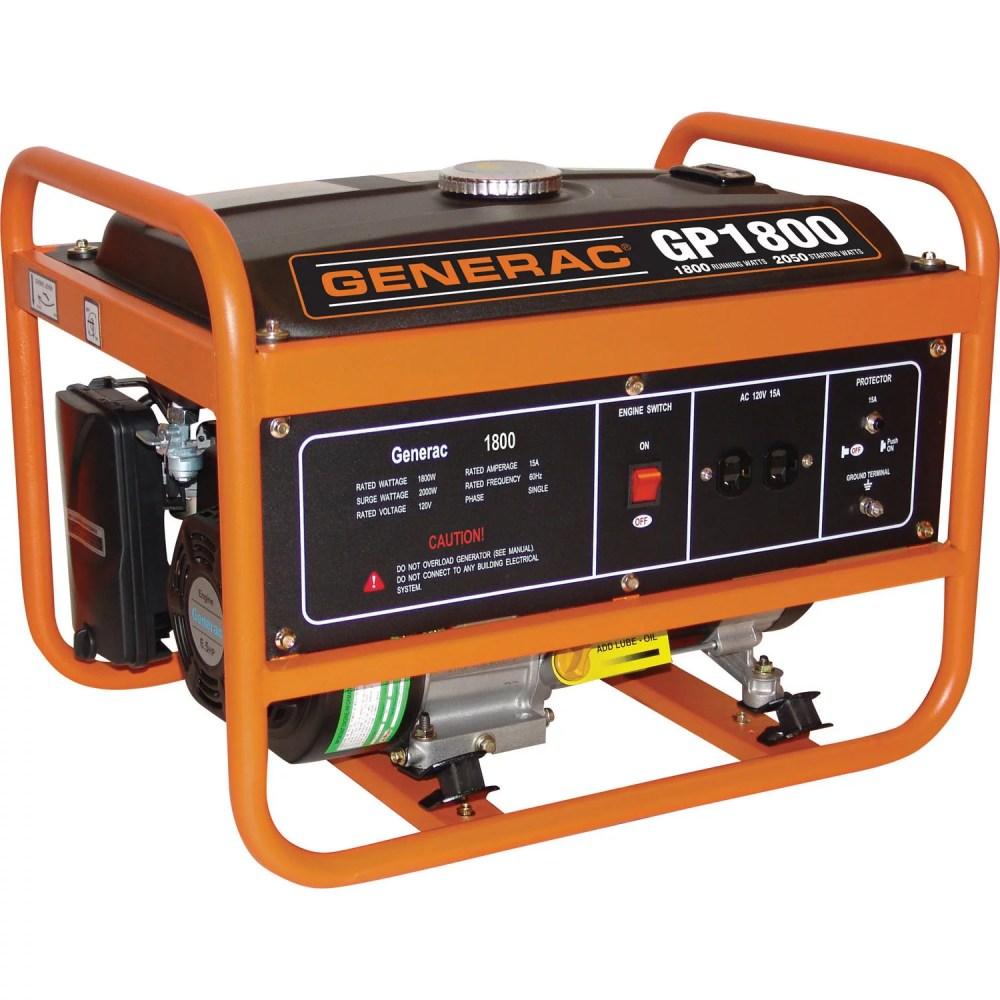 medium resolution of generac 5981 1800 watt gasoline powered portable generator 49 csa walmart com