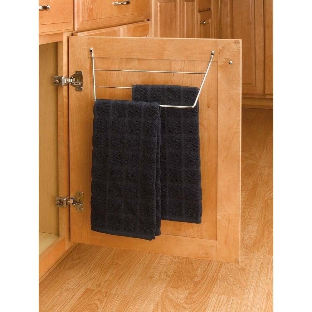 rev a shelf chrome 3 rack dish towel holder
