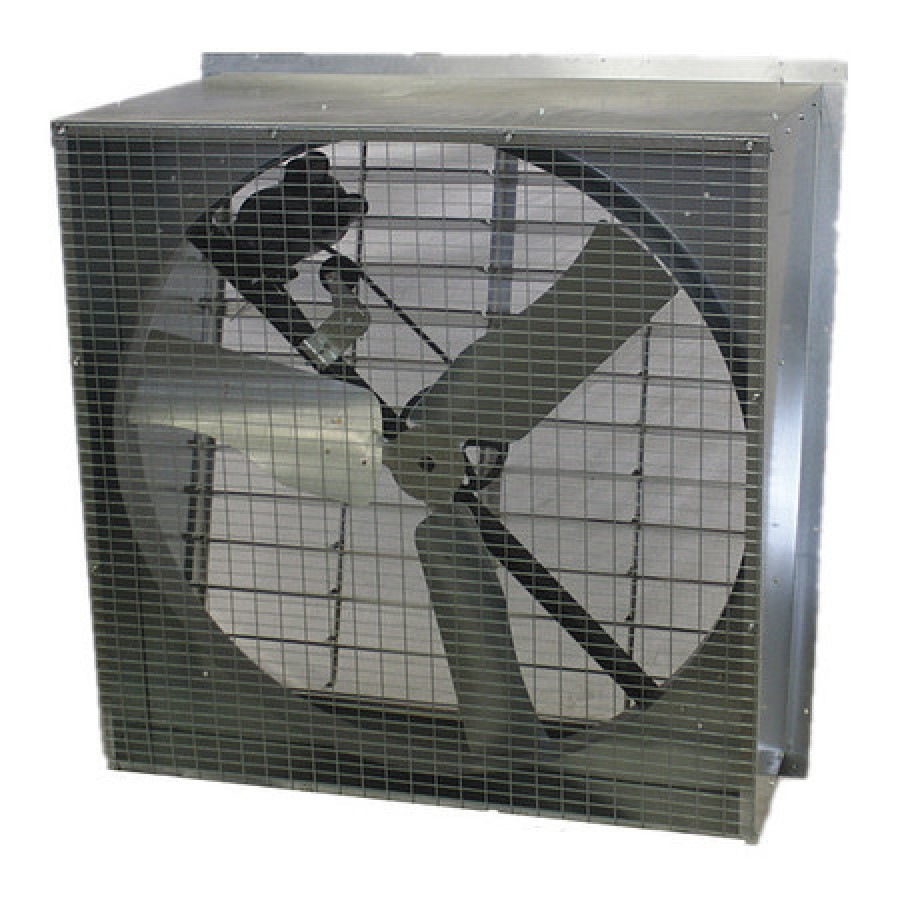 dayton 44yu14 exhaust fan 48in slantwall belt drive