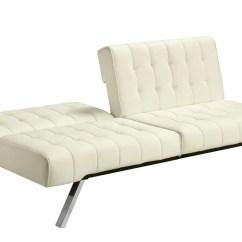 Serta Bonded Leather Convertible Sofa Surfing Futon