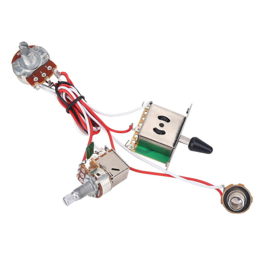 medium resolution of yosoo electric guitar metallic wiring harness prewired kit 3 way switch pots set 3 way zoomed image