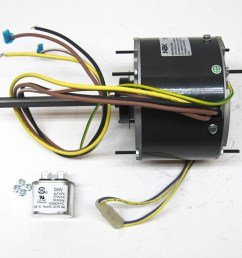 partsconnect nbk condenser fan motor and capacitor pcd906 walmart com condenser fan motor bearings condenser fan motor wiring [ 1900 x 1537 Pixel ]